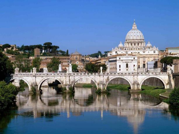 Vista panoramica Basilica di San Pietro a Roma