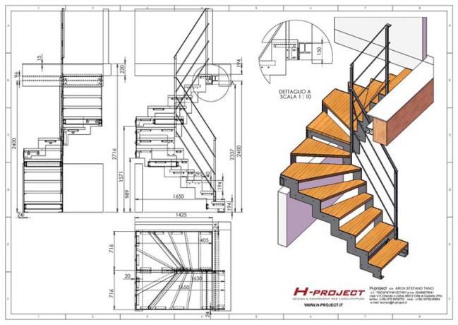 s3-d3 scala prefabbricata piccola disegni
