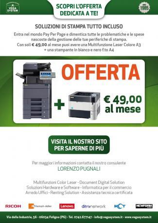 Offerta Noleggio Stampanti Vegasystem Umbria