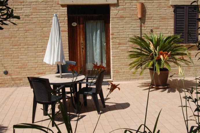 Casale per vacanze con appartamenti per 4persone Macerata