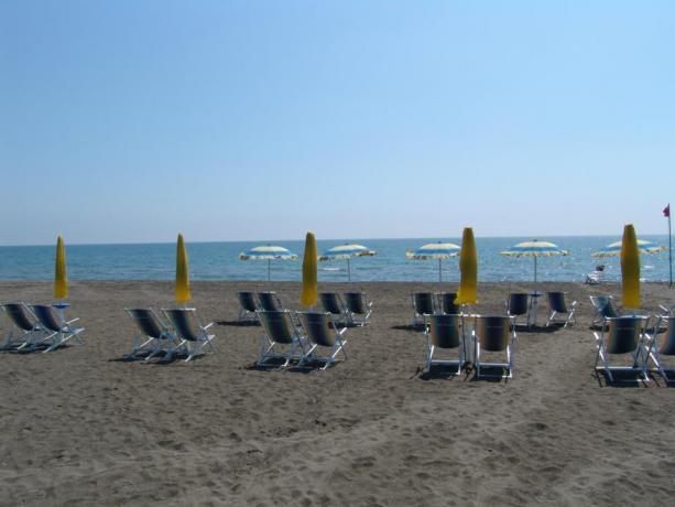 Spiaggia privata dell'hotel