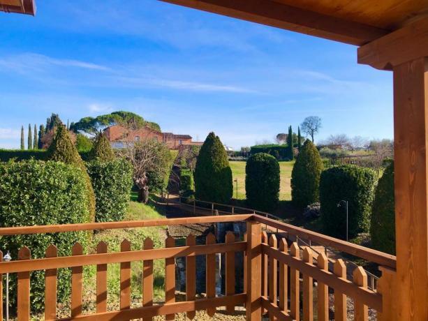 Vista panoramica dalla casa sull'albero