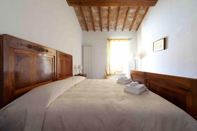 Dormire e rilassarsi in Umbria camera Novecento
