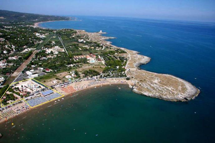 Villaggio vicino Spiaggia di Baia Molinella