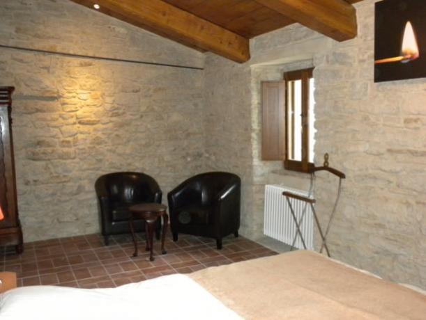 Camera Matrimoniale Fuoco Villa con Biblioteca