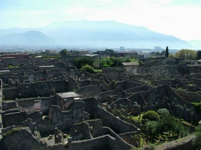 The ruins of Pompei