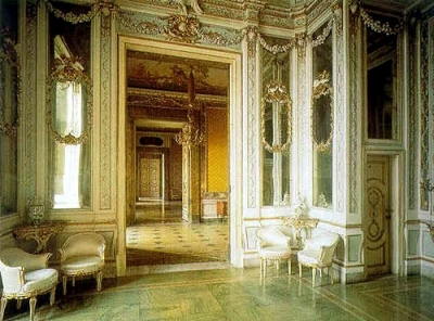 The inside of the palace, stay in B&B