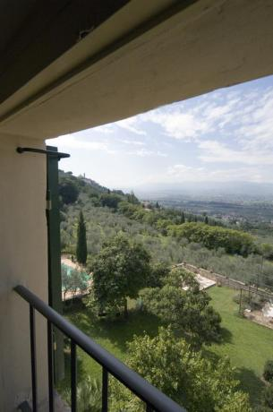 villa a Trevi in Umbria, Panorama
