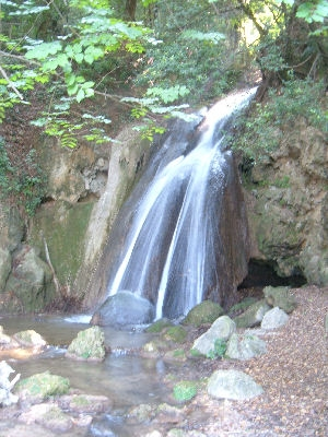 Natural waterfalls in Belfiore near Foligno