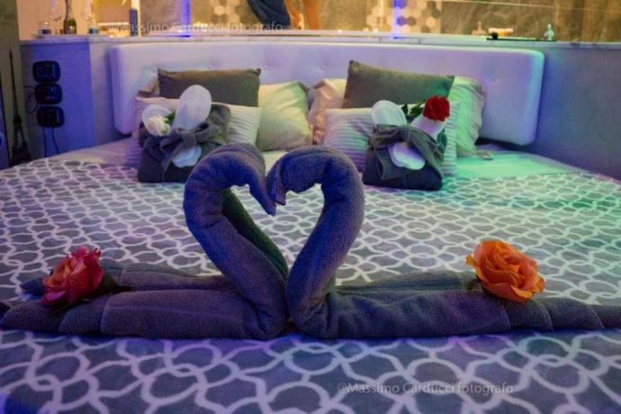 Luxury Suite con letto rotondo e idromassaggio