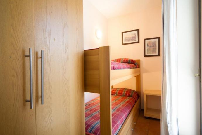 Appartamento-vacanze Bardonecchia monolocale con letti a castello