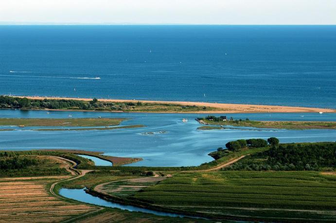 Vista panoramica della Laguna Veneta