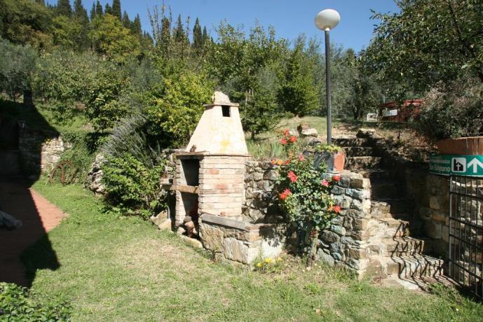 Giardino caminetto relais Calenzano vicino Prato