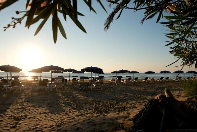 Spiaggia privata albergo 5 stelle a Vieste