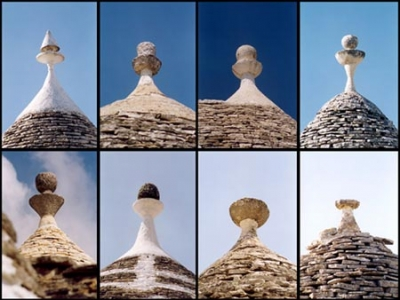 The pinnacles of the Trulli-roofs
