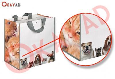 shopper laminata negozio animali pet shop