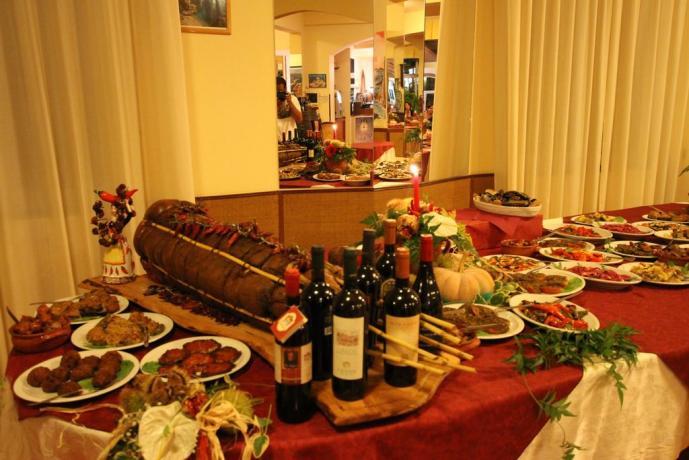 Ottima cucina del posto in Hotel in Calabria