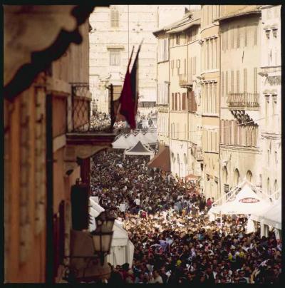 centro storico di perugia durante la manifestazione