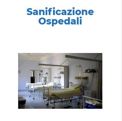 Sanificazione e Disinfezione Certificata COVID-19:  OSPEDALI Roma