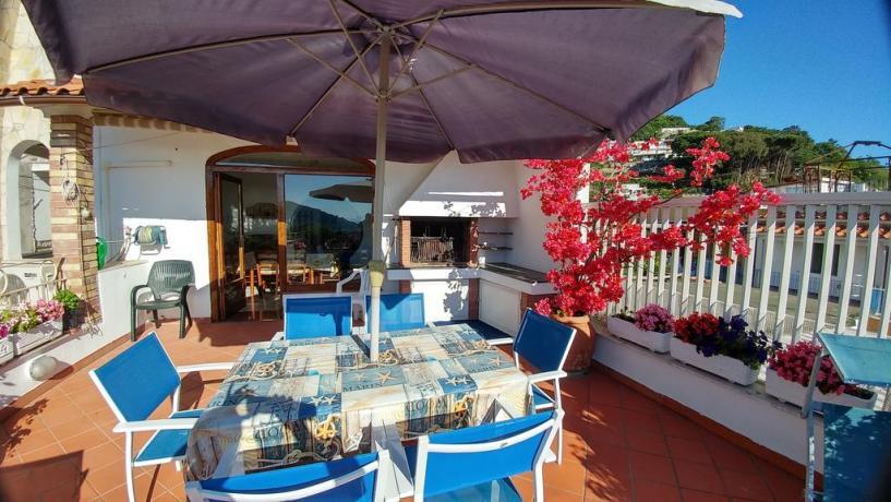 Terrazza casa vacanze Barano d'Ischia ideale per relax