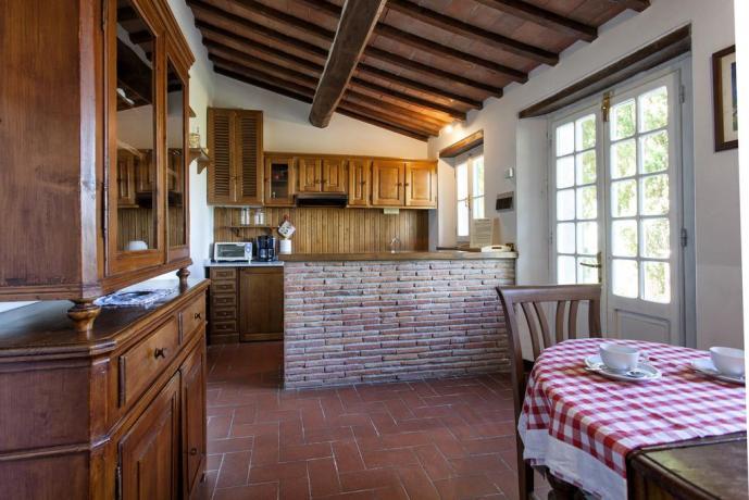 Residence di lusso Cortona con sala da pranzo