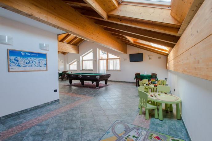 Hotel  vicino Bormio con spazi per bambini