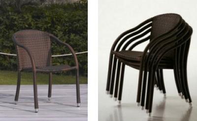 Sedie in rattan ecologico da esterno arredo per esterni for Arredamento bar tavoli e sedie