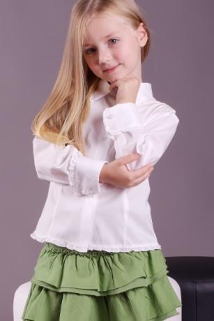 Camicia bambina maniche lunghe modello slim