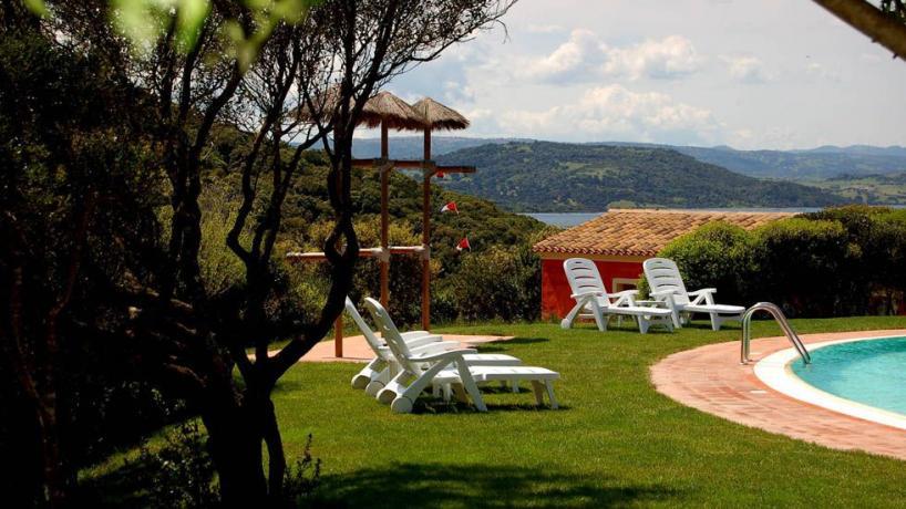 Solarium Piscina Resort4stelle vicino Lago Liscia