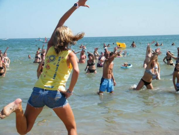 Spiaggia convenzionata con Animazione Marina Centro Rimini