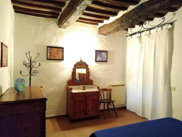 Camera matrimoniale con mobili antichi Castiglione-del-Lago
