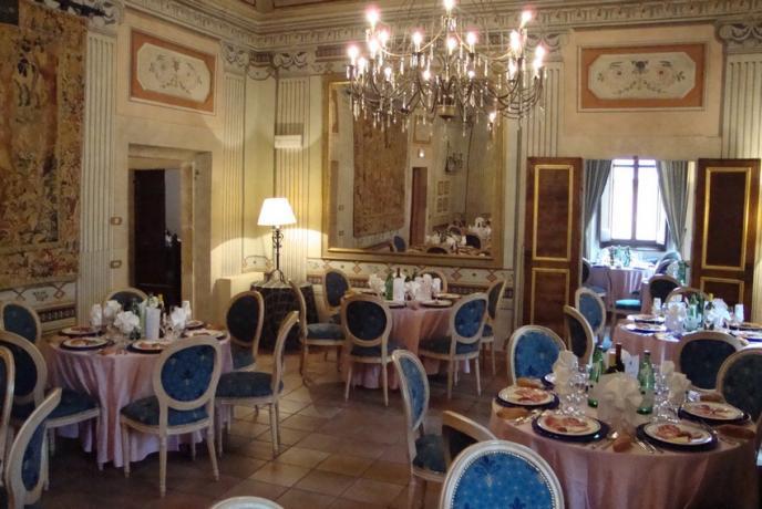 Elegante sala per banchetti