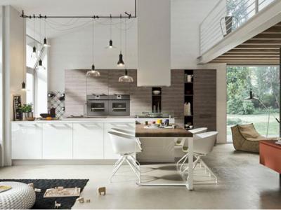 Cucina angolare con penisola in legno massello paesana cucine componibili classiche e moderne - Cucine a prezzi bassissimi ...