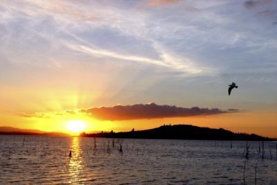 Il tramonto del Lago Trasimeno