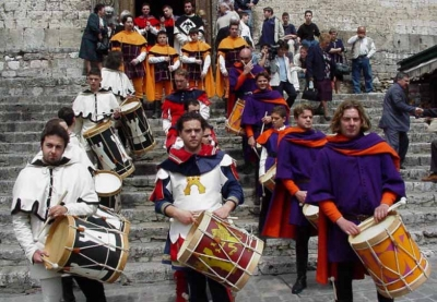 Drummers in Narni