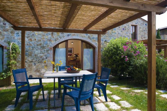 casole d'elsa residence con Gazebo attrezzati e barbecue