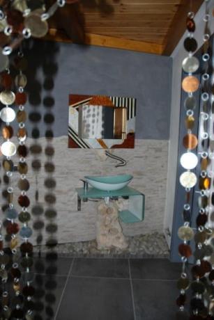 Particolare del bagno della Villetta