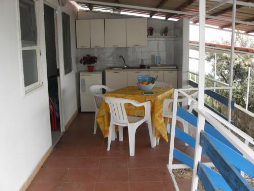 BUNGALOW BILOCALE Prefabbricato in Muratura: Veranda-cucina