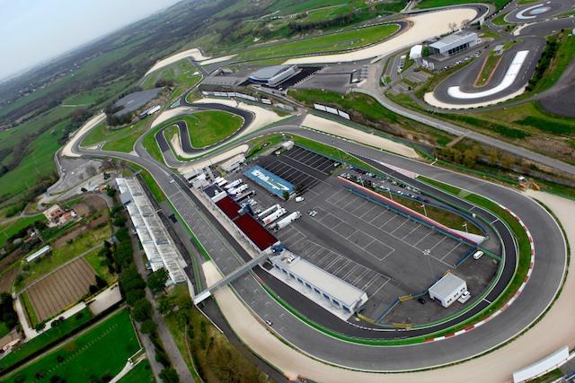 Veduta dall'alto Autodromo Vallelunga