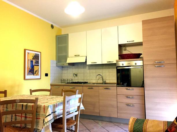Cucina con Forno e Lavastoviglie in appartamentovacanza