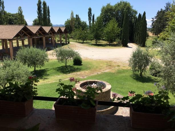 Casale con vista a Perugia