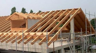 Sezione tetto in legno coibentato