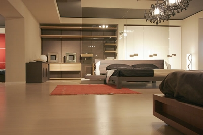 Letto moderno rovere con comodini camere da letto - Camera da letto rovere sbiancato ...