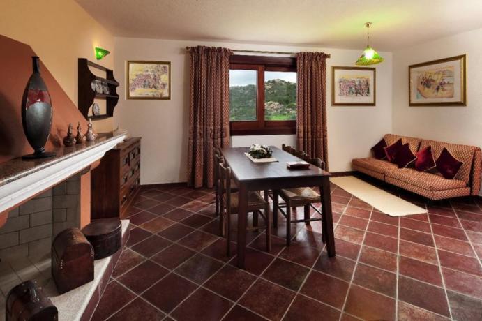 Area soggiorno Appartamenti I Graniti a Orosei