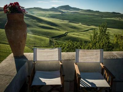 Balcone con vista stupenda Masseria4Stelle Valledolmo