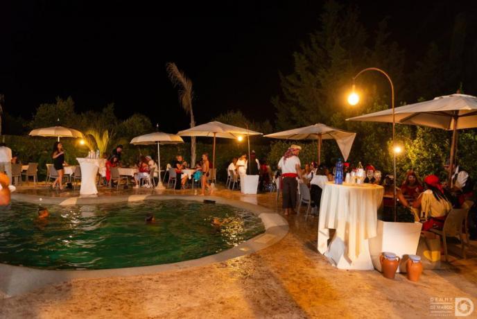 Feste a tema a bordo piscina hotel3stelle Trapani