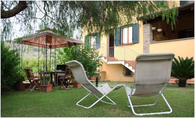Patio esterno in Villa a Castellabbate per famiglie