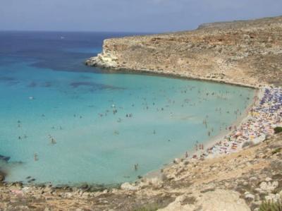 The sea in  lampedusa