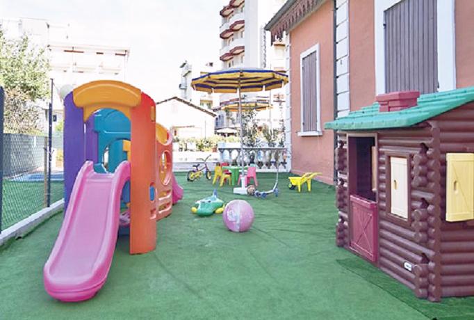 Vacanza in famiglia, Hotel con parco giochi