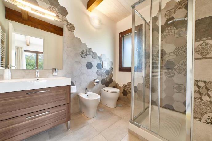residence con bagno privato e box doccia